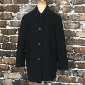 J. Crew Peacoat Black Wool Cashmere Pockets Small